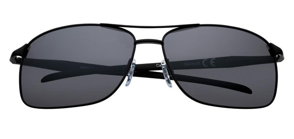 Silver Polarized Pilot Sunglasses