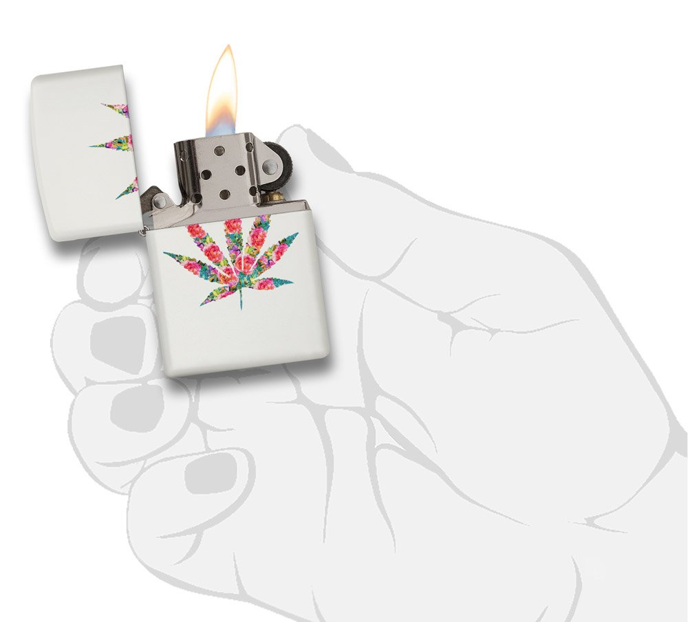 Zippo Leaf Design Pocket Lighters