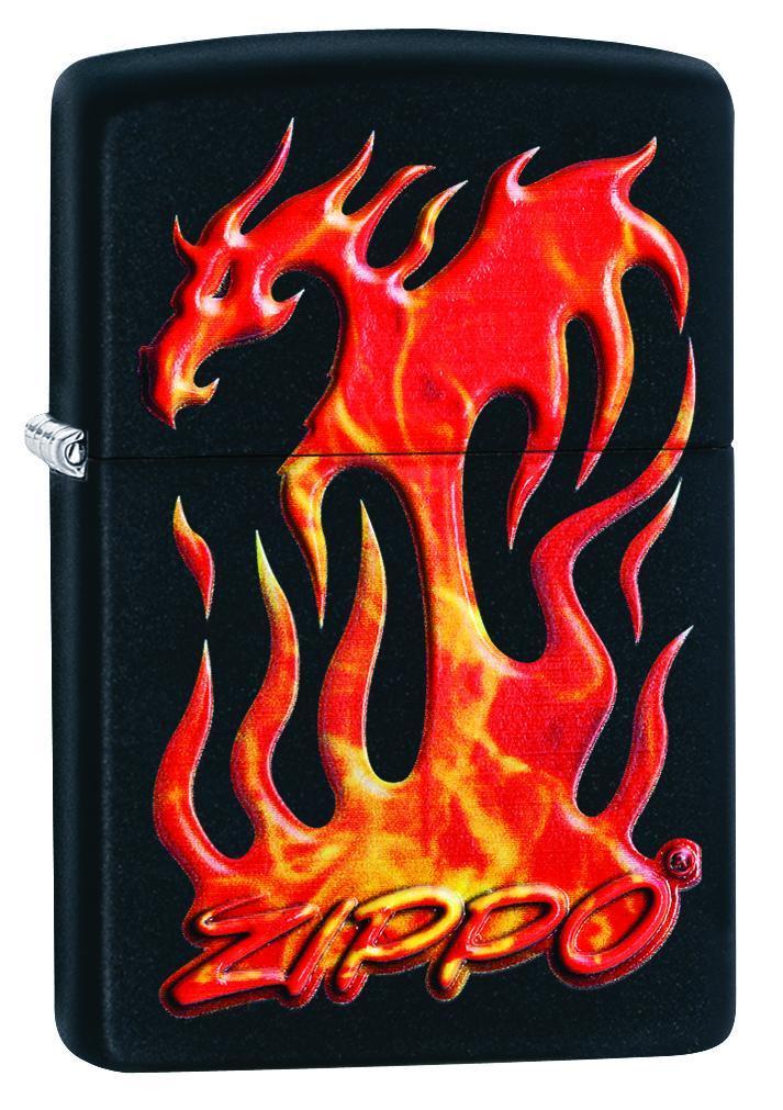 Zippo Flaming Dragon Design