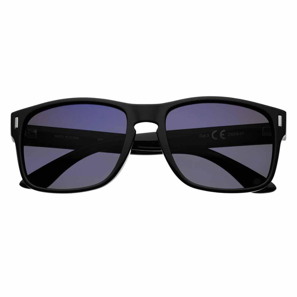 Navy Polarized Square Sunglasses