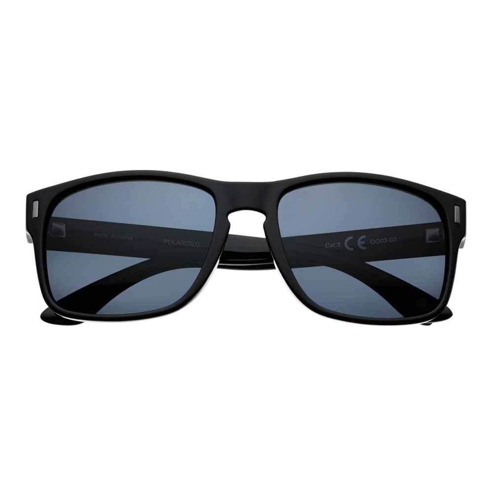 Black Polarized Square Sunglasses