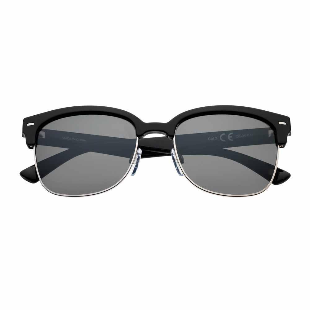 Dark Green Polarized Semi-Rimless Sunglasses