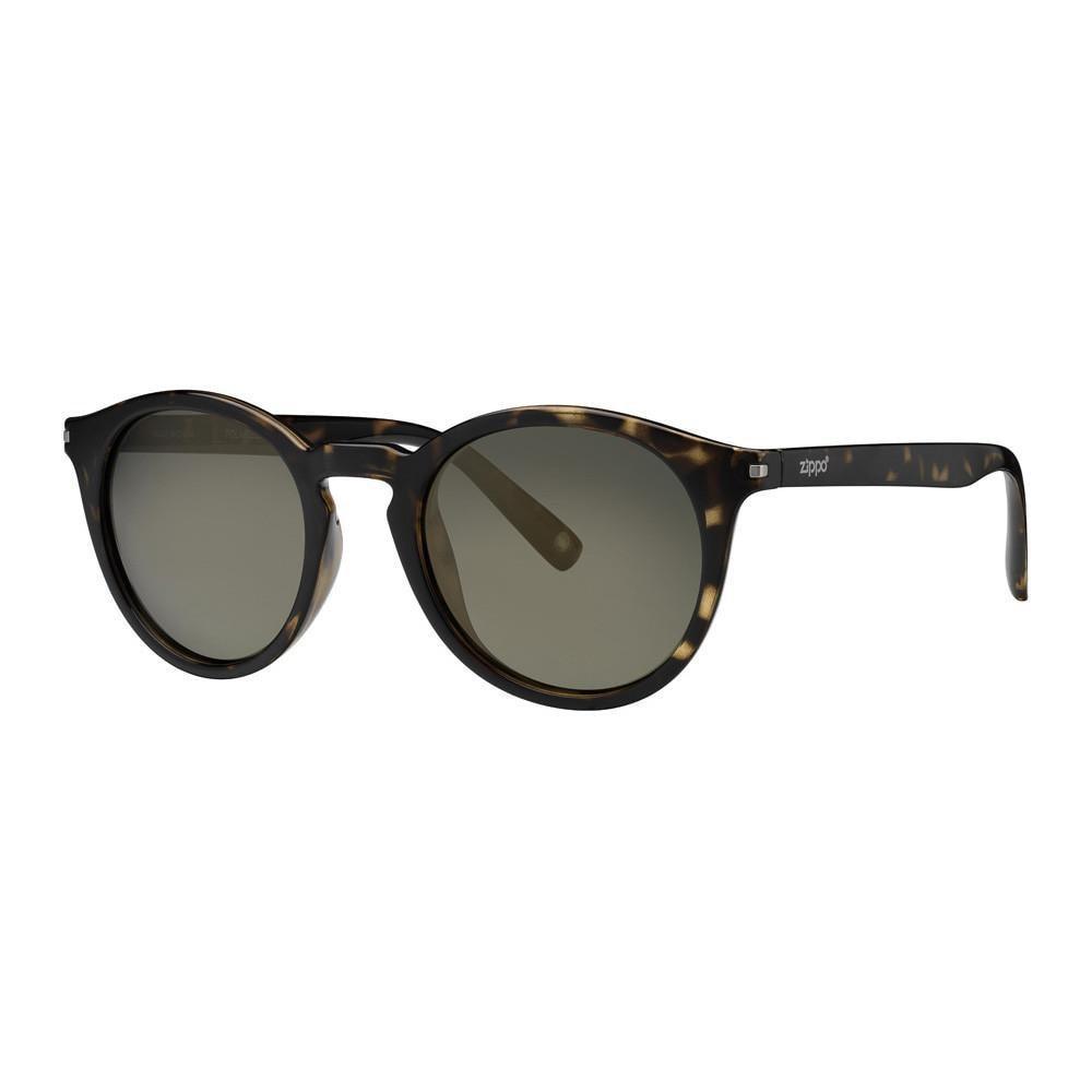 Dark Green Polarized Round Sunglasses