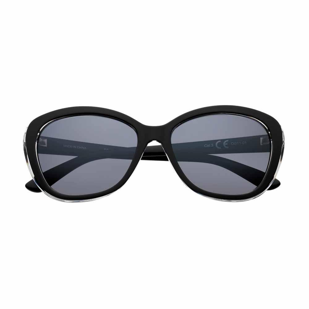 Black Polarized Oval Sunglasses