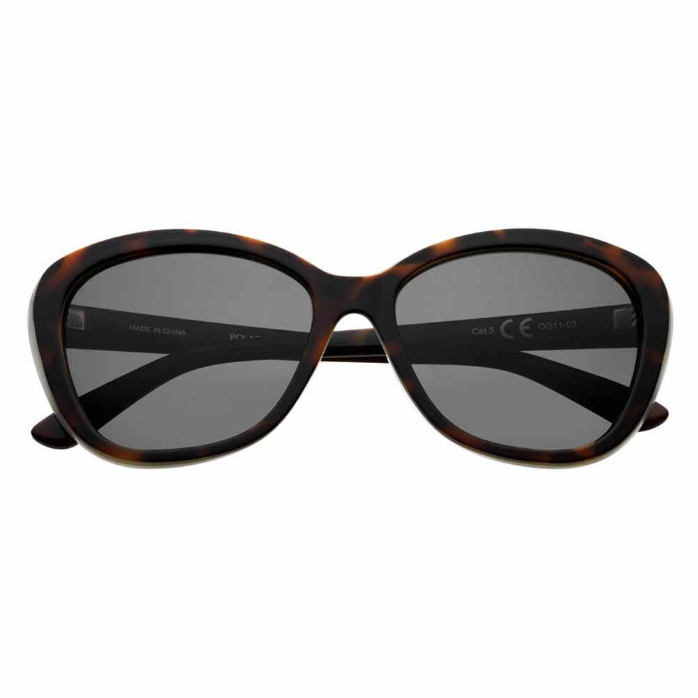 Dark Green Polarized Oval Sunglasses