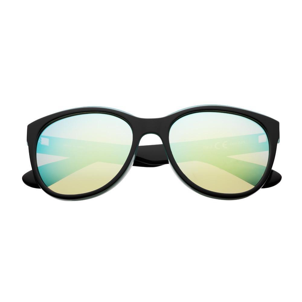 Reflective Green Polarized Oversized Sunglasses