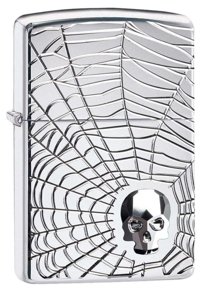 Spider Web Skull Design