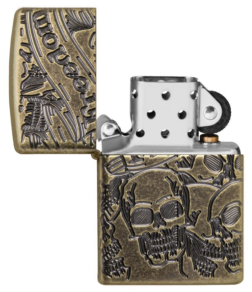 Armor® Freedom Skull Antique Brass