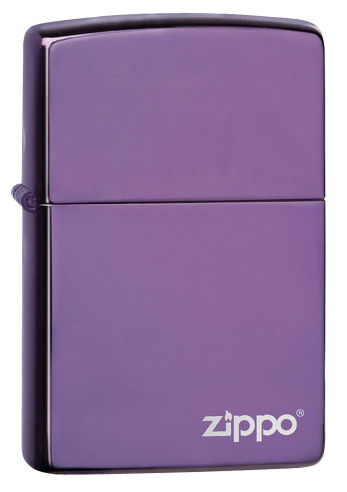 Classic High Polish Purple Zippo Logo