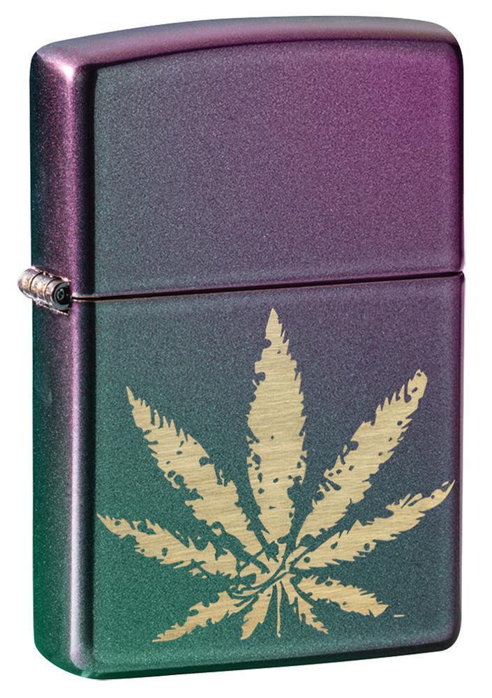 Iridescent Marijuana Leaf