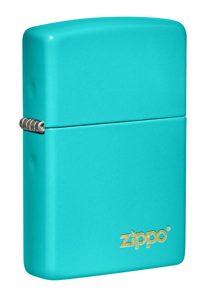 Classic Flat Turquoise Zippo Logo