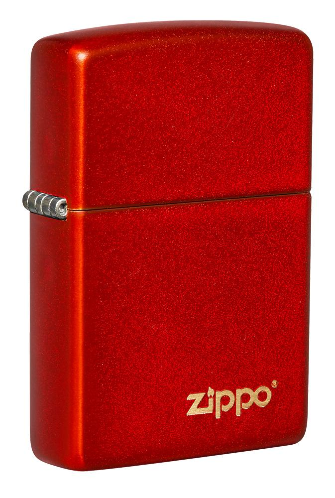 Classic Metallic Red Zippo Logo